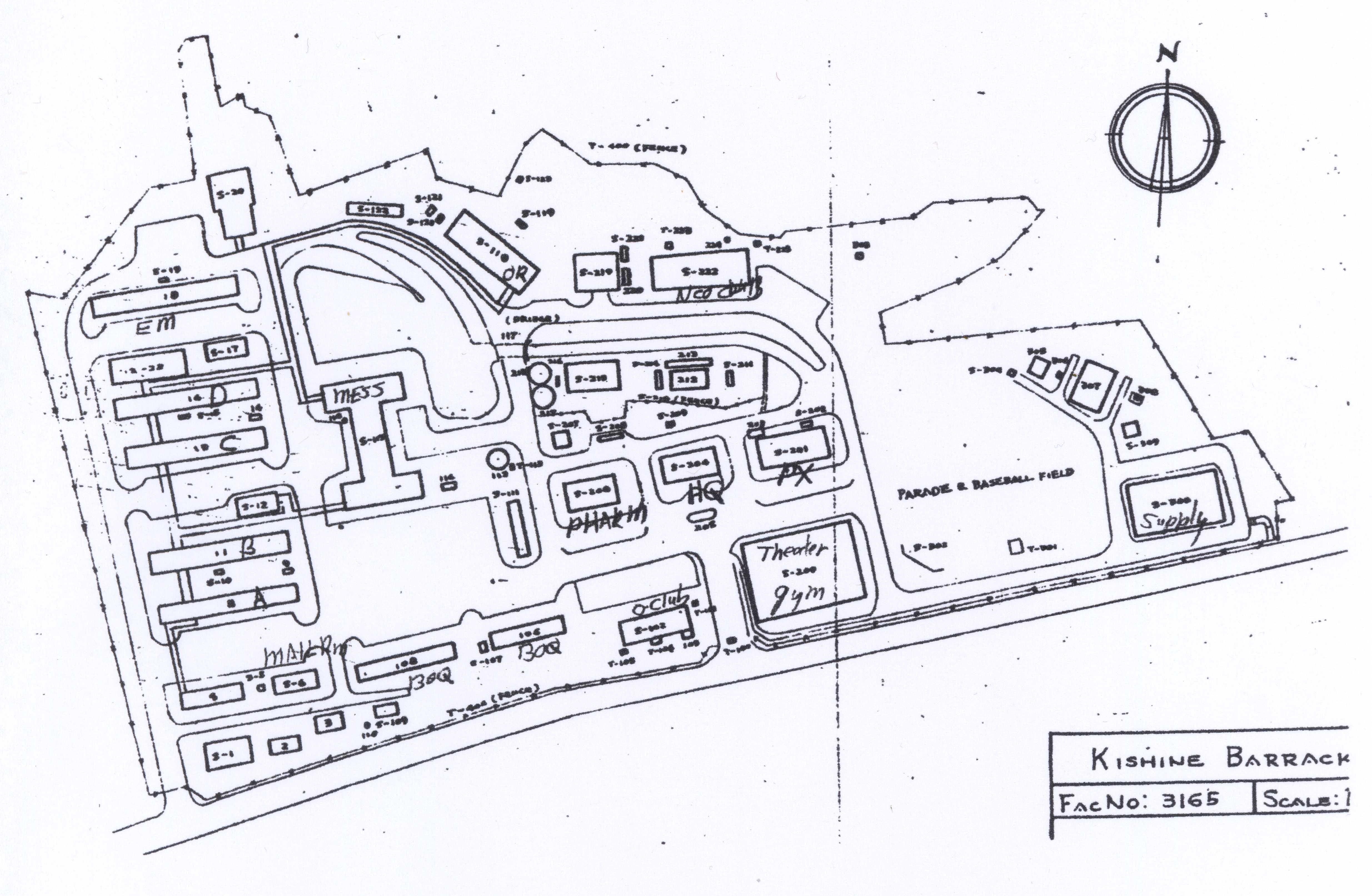 Yosha Bunko Hospital Wiring Circuit Diagram Map Of 106th General Installations Page 10 1969 Report As Scanned