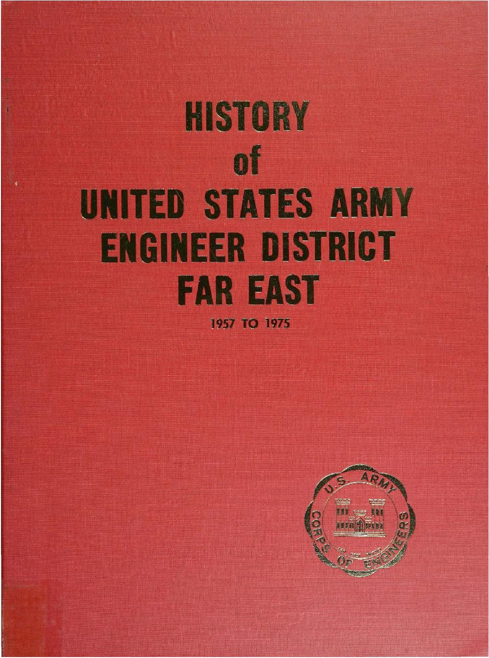 Yosha bunko history of the united states army engineer district far east 1957 1975 fandeluxe Images